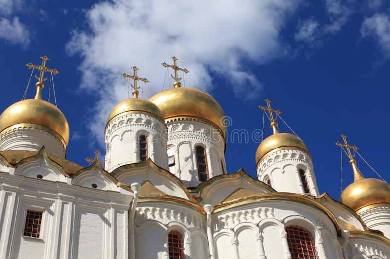 Annunciation Cathedral in Moscow Kremlin, Russia stock photo