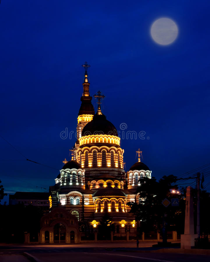 Free Annunciation Cathedral, Nightlife Royalty Free Stock Image - 20149766