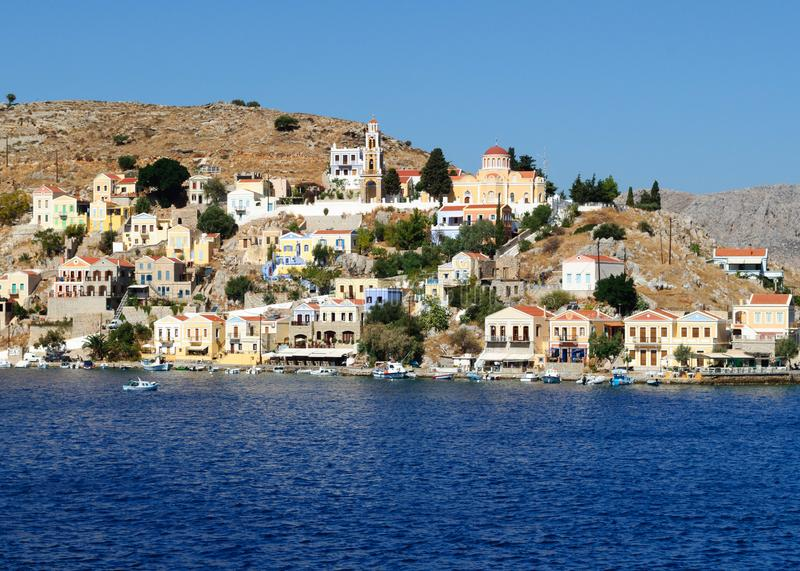 The Annunciation Church on the island of Symi royalty free stock photo