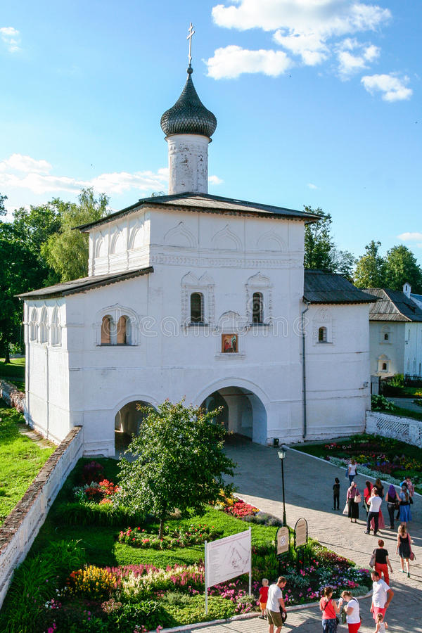Annunciation gate church of the Saviour Monastery of St. Euthymius, Russia, Suzdal royalty free stock image
