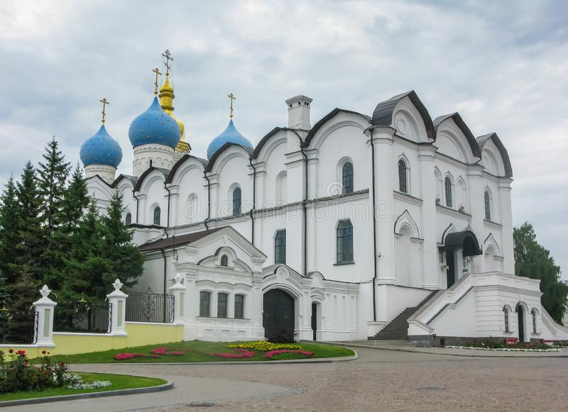 Annunciation katedra Kazan Kremlin jest pierwszy Ortodoksalnym kościół Kazan Kremlin zdjęcia stock