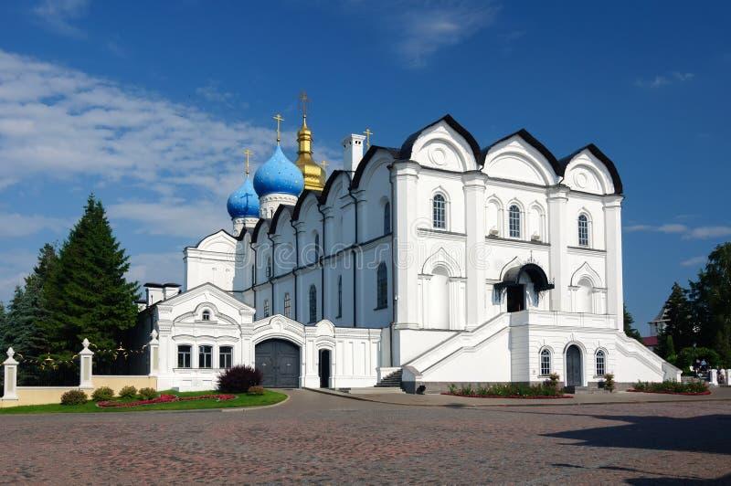 Annunciation katedra Kazan Kremlin jest starymi zabytkami historia, Tatarstan republika zdjęcia stock