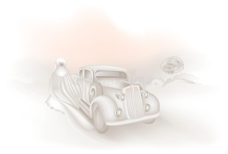 Annuncio 01 di cerimonia nuziale illustrazione di stock