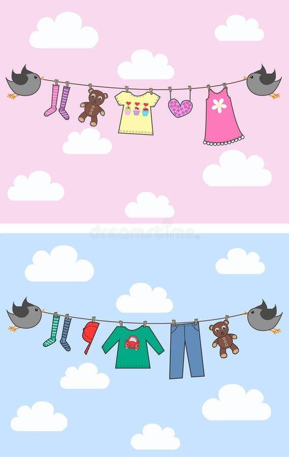 annuncio del bambino illustrazione di stock