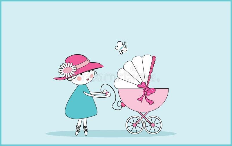 Annuncio del bambino royalty illustrazione gratis