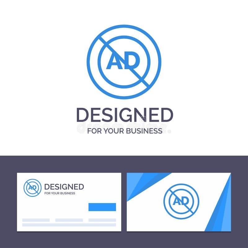 Annuncio del modello creativo di logo e del biglietto da visita, blocchetto dell'annuncio, pubblicità, pubblicità, illustrazione  illustrazione vettoriale