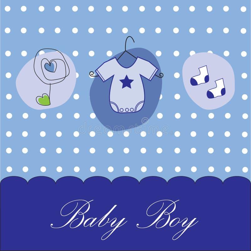 Annuncio del neonato illustrazione di stock