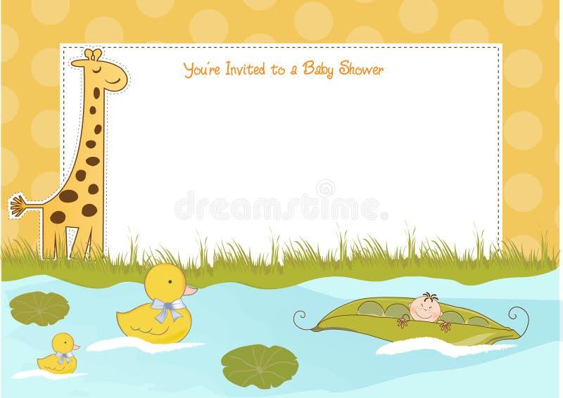 Annuncio dell'acquazzone di bambino illustrazione di stock