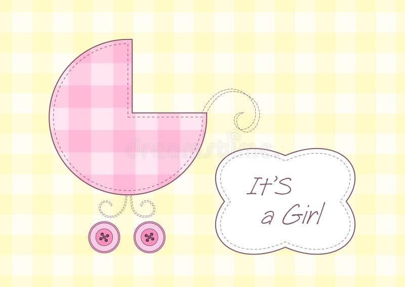 Annuncio di arrivo della neonata illustrazione vettoriale
