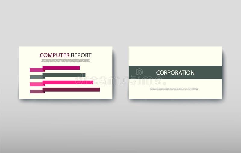 Annuncio di proposta dell'insieme di progettazione moderna di affari di informazioni di infographics del manifesto illustrazione di stock