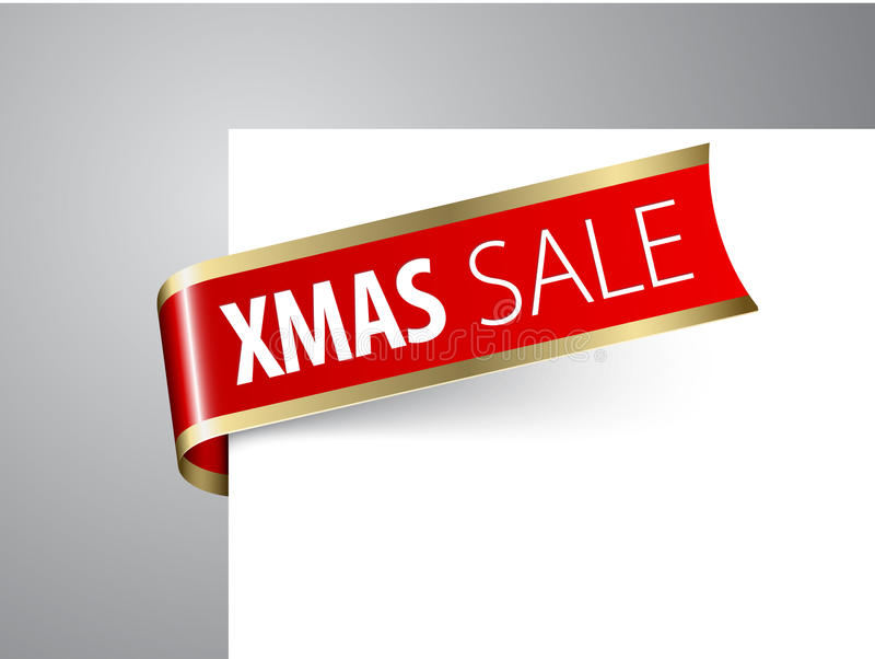 Annuncio di vendita di natale illustrazione di stock