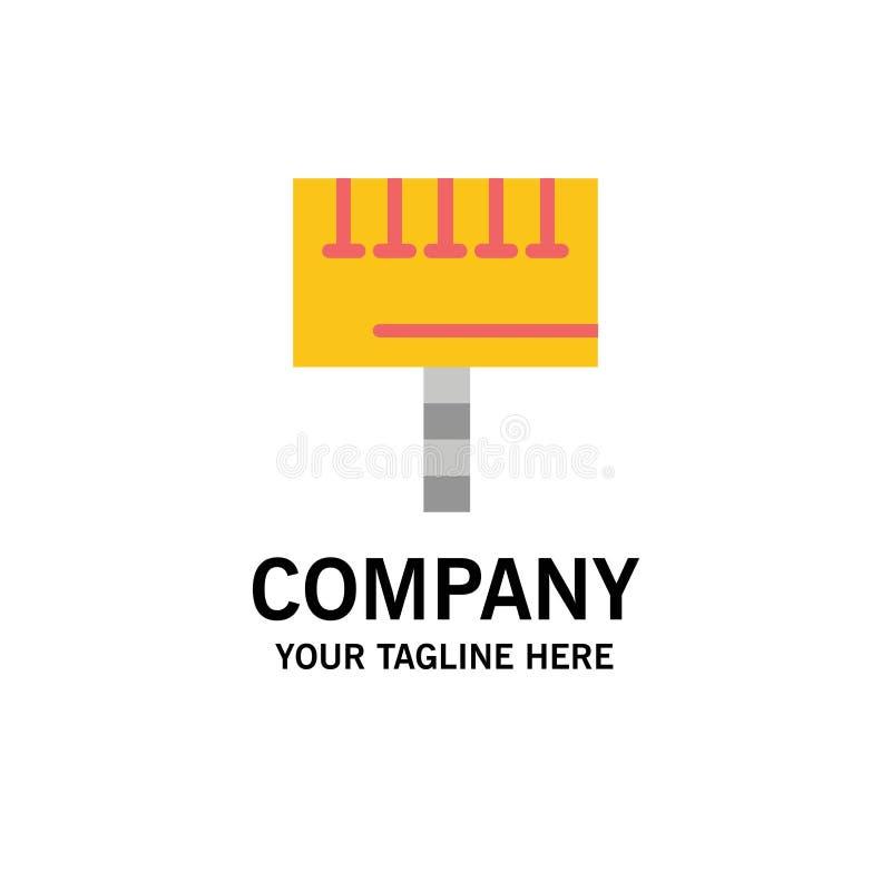 Annuncio, pubblicità, bordo, affare Logo Template dell'insegna colore piano illustrazione vettoriale