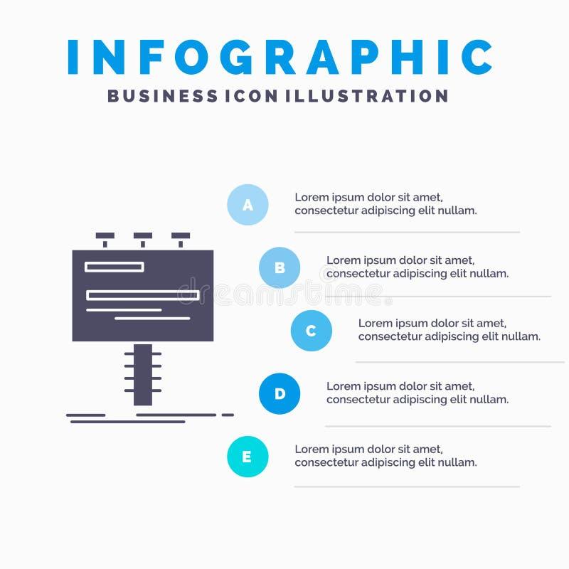 Annuncio, pubblicit?, pubblicit?, tabellone per le affissioni, modello di Infographics di promo per il sito Web e presentazione I royalty illustrazione gratis