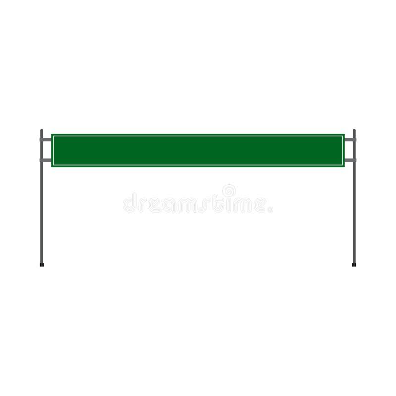 Annuncio verticale dell'icona di vettore di vista frontale di offerta di verde della strada del tabellone per le affissioni Eleme royalty illustrazione gratis