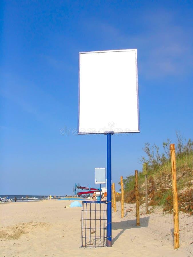 Annuncio vuoto della spiaggia immagini stock