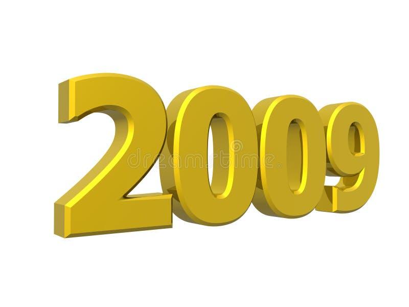 ano 2009 ilustração stock