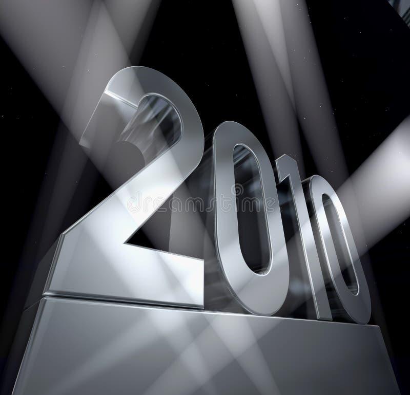 Ano 2010 ilustração stock
