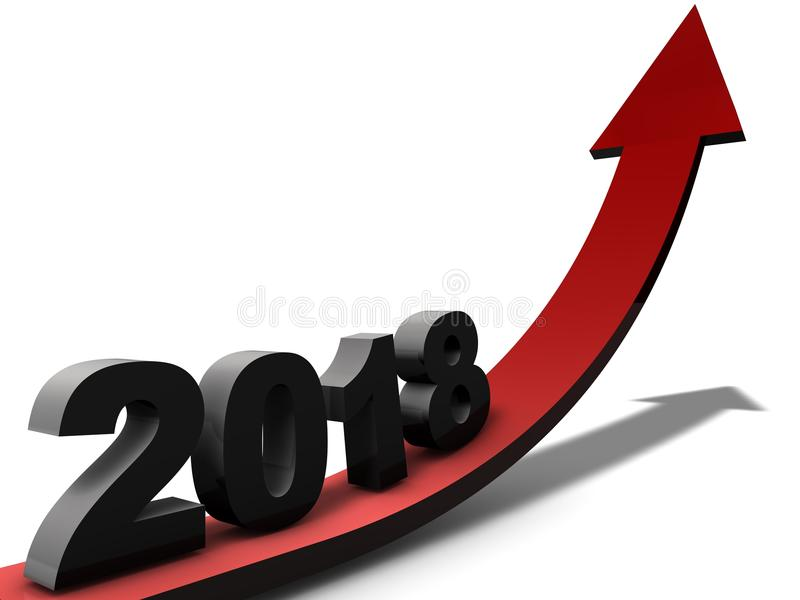 Ano bem sucedido 2018 ilustração stock
