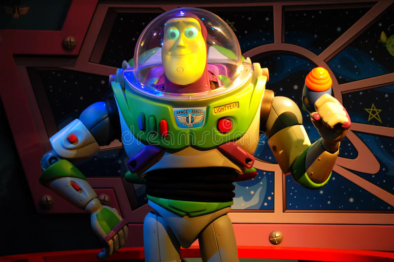 Ano claro do zumbido de Pixar imagens de stock