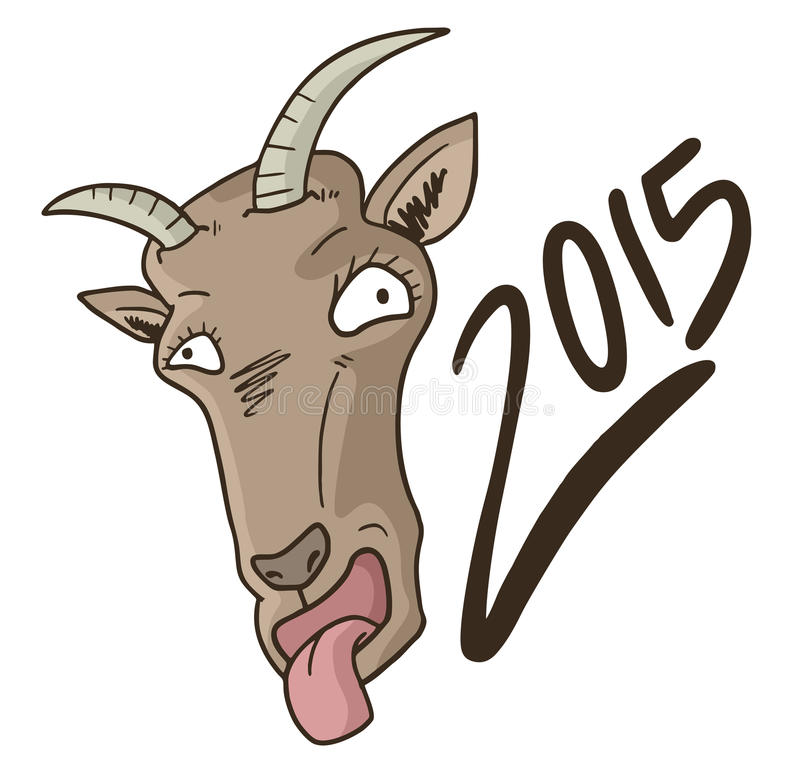 Ano da cabra ilustração royalty free