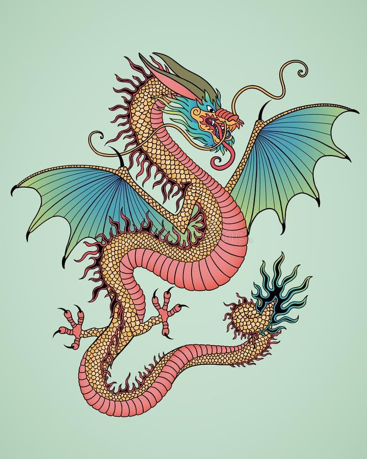 Ano de dragão ilustração do vetor