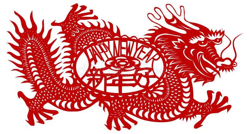 Ano do dragão ilustração do vetor