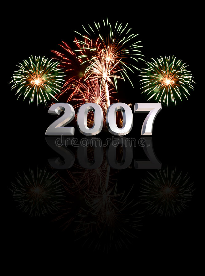 Ano novo 2007 fotografia de stock royalty free