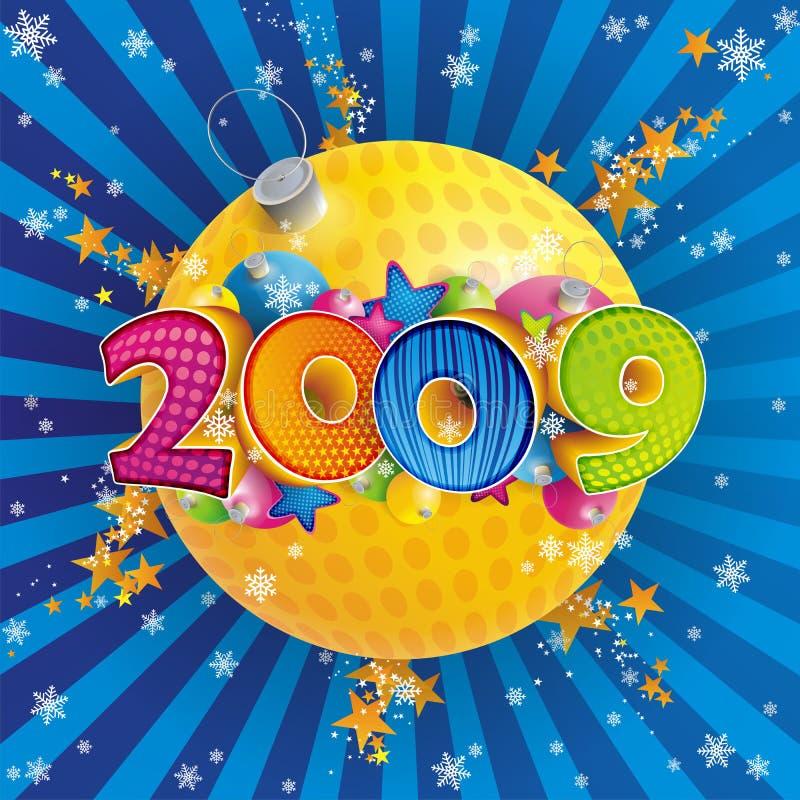 Ano novo 2009 ilustração stock