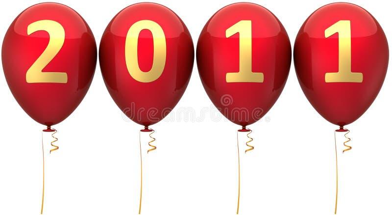 Ano novo 2011 balões da tâmara (alugueres) ilustração stock