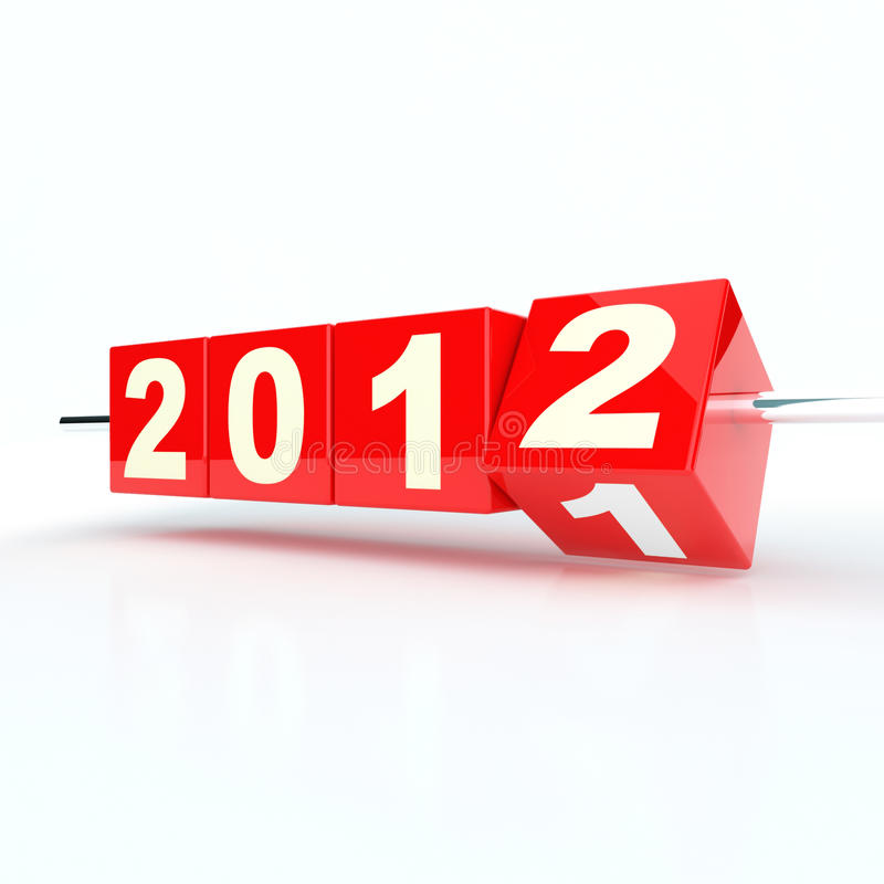 Ano novo 2012 ilustração royalty free