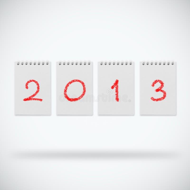 Ano novo 2013 ilustração do vetor