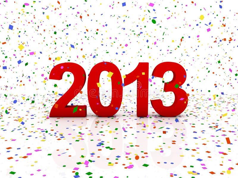 Ano novo 2013 ilustração stock