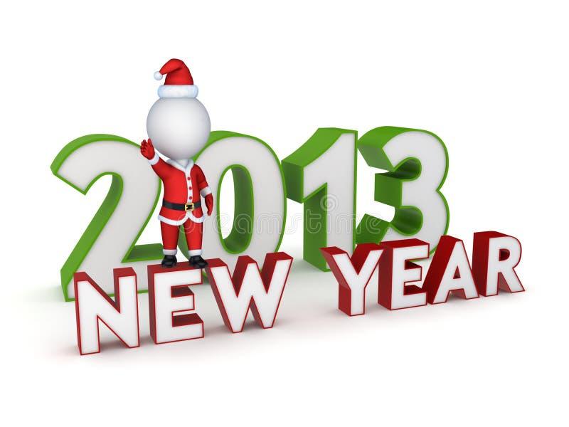 Ano novo 2013. ilustração stock