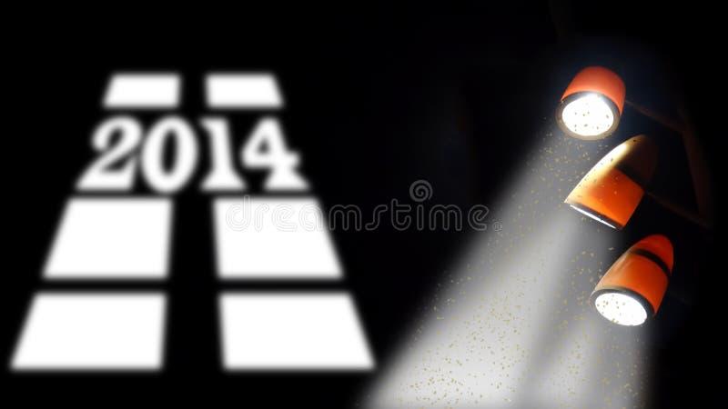 Ano novo 2014 ilustração royalty free