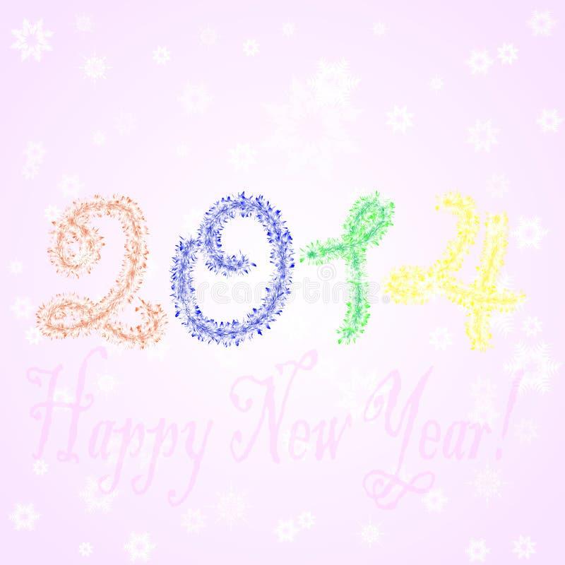 Ano novo 2014 fotos de stock royalty free