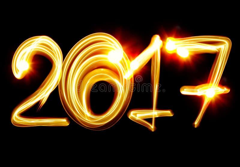 Ano novo 2017 ilustração royalty free