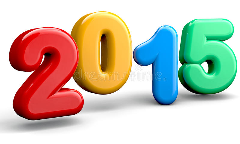 Ano novo 2015 ilustração royalty free