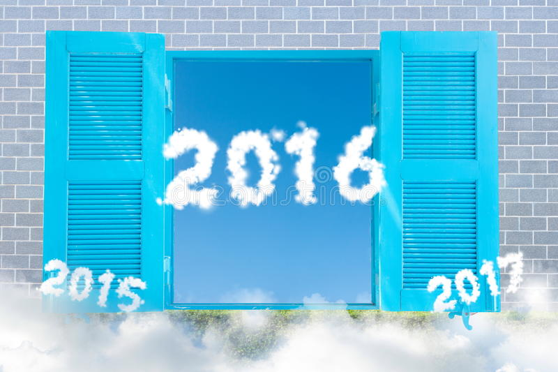 Ano novo 2016 foto de stock