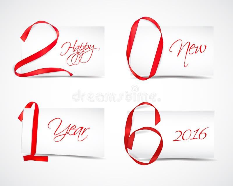 Ano novo 2016 ilustração stock