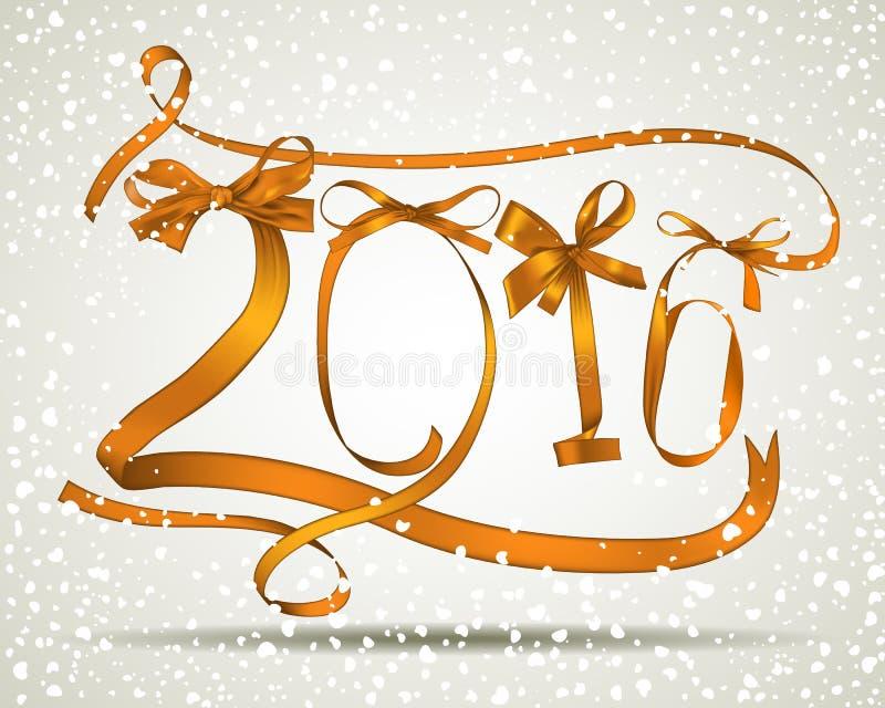 Ano novo 2016 ilustração royalty free