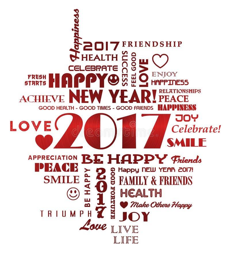 Ano novo 2017 ilustração stock