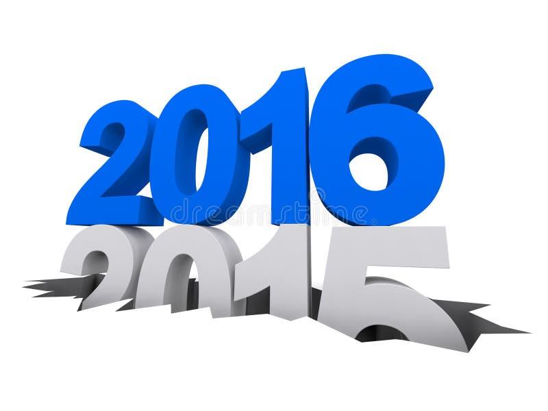 Ano novo 2016 Ano passado 2015 ilustração stock