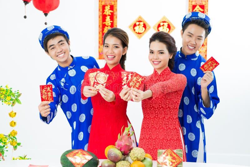 Ano novo asiático imagens de stock