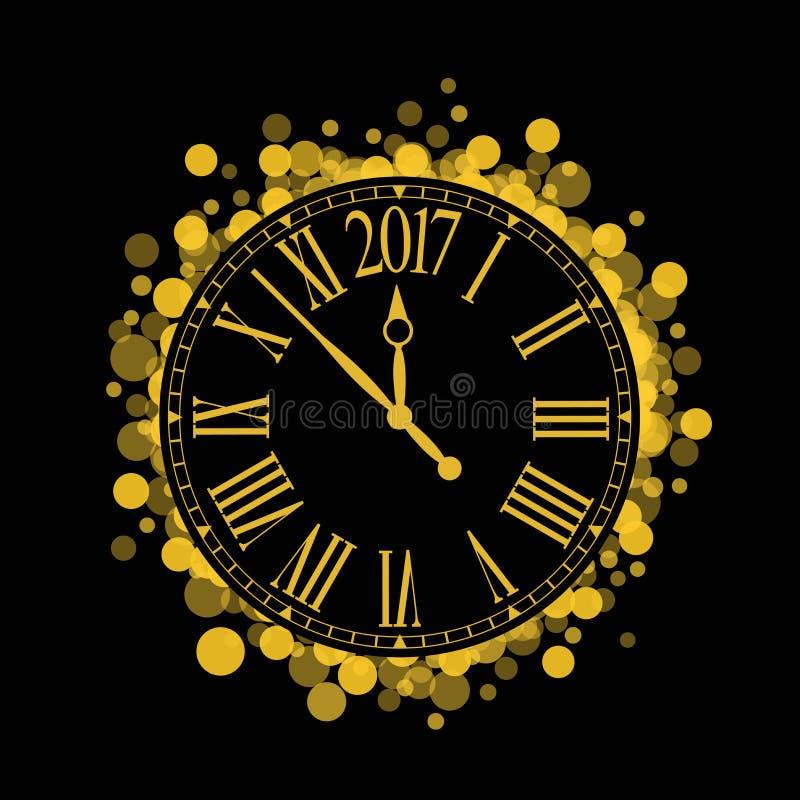 Ano novo brilhante 2017 do vetor ilustração stock