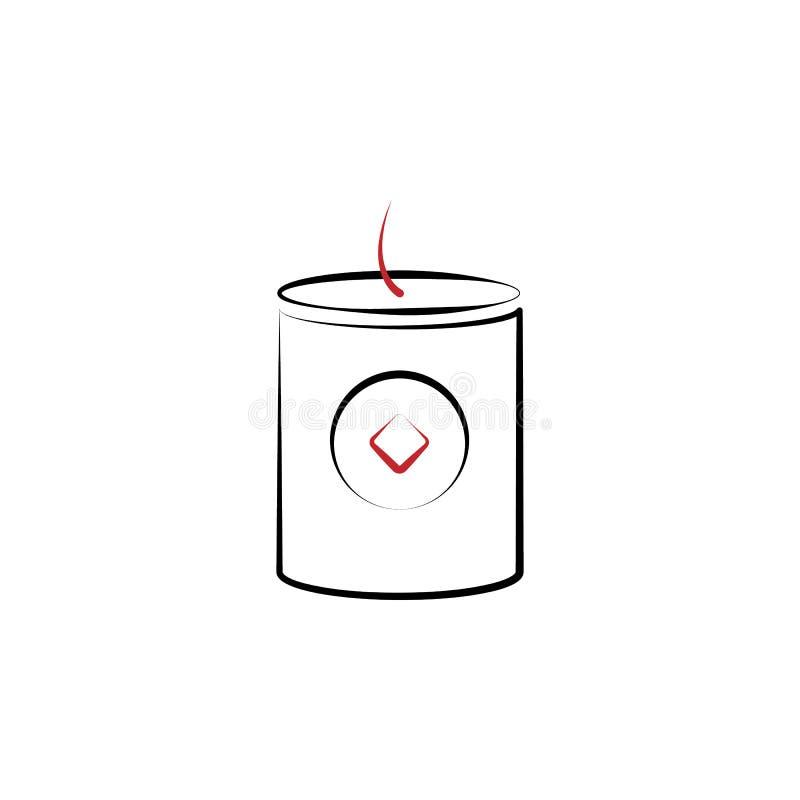 Ano novo chinês, ícone do fogo de artifício Pode ser usado para a Web, logotipo, app móvel, UI, UX ilustração royalty free