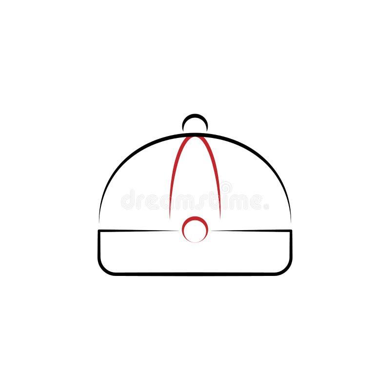 Ano novo chinês, ícone do tampão Pode ser usado para a Web, logotipo, app móvel, UI, UX ilustração stock