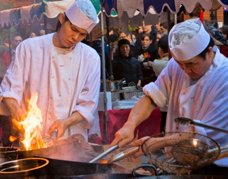 Ano novo chinês, Chinatown, Londres imagem de stock royalty free