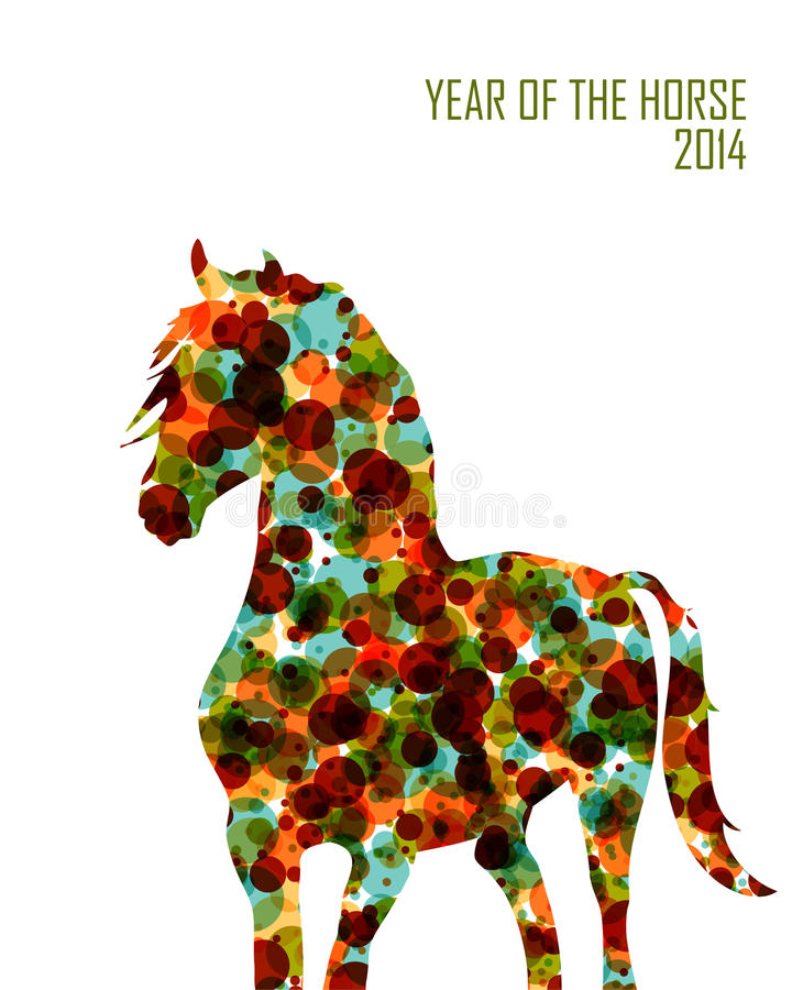 Ano novo chinês do arquivo das bolhas EPS10 da fôrma do cavalo. ilustração do vetor