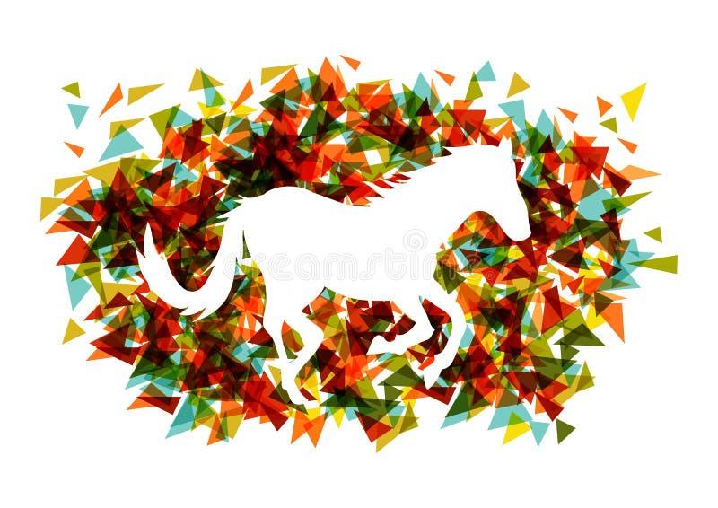 Ano novo chinês do arquivo do triângulo EPS10 da fôrma do cavalo. ilustração do vetor