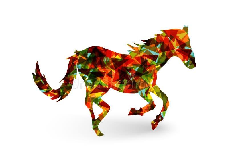 Ano novo chinês do arquivo do triângulo EPS10 do sumário do cavalo. ilustração stock